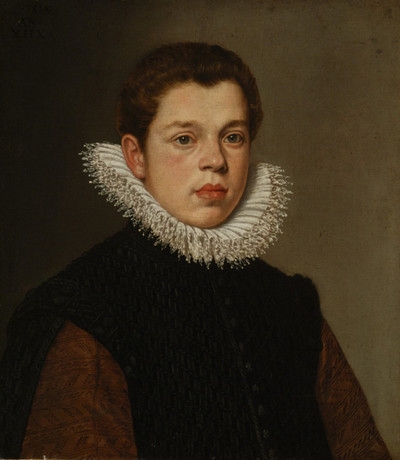Portrait of a Young Man with a White Ruff Collar