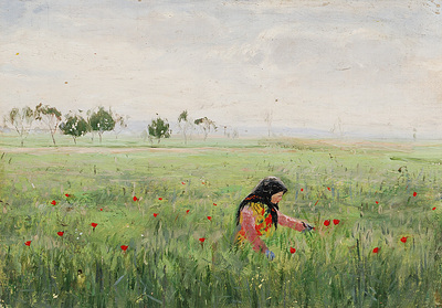 Image from object titled Woman in a Meadow