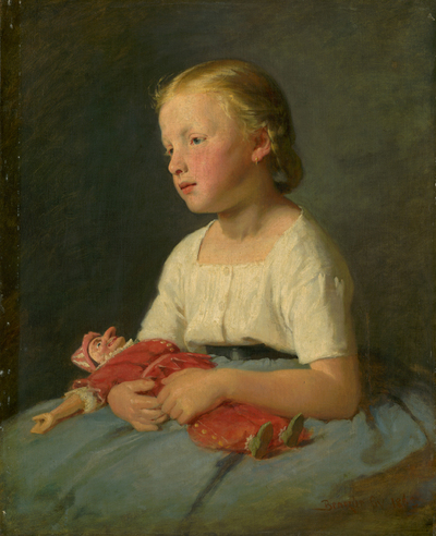 Image from object titled Little Girl with a Doll