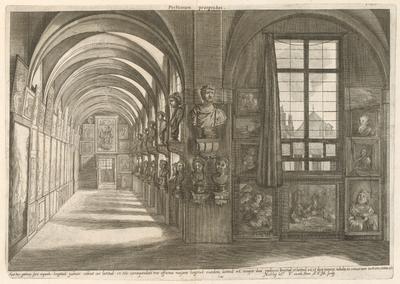 Pohľad na zbierku arcivojvodu Leopolda Wilhelma Habsburského v Bruseli - pohľad do portika