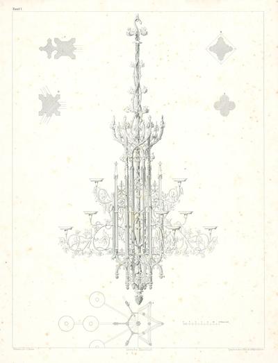 Návrh na gotizujúci luster