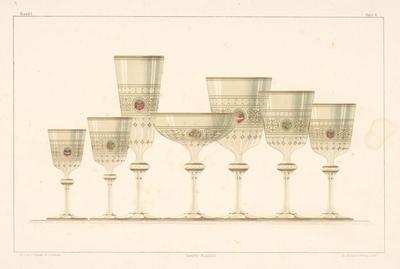 Design Proposal of Glassware (from the cycle Gewerbe Kunstblatt)