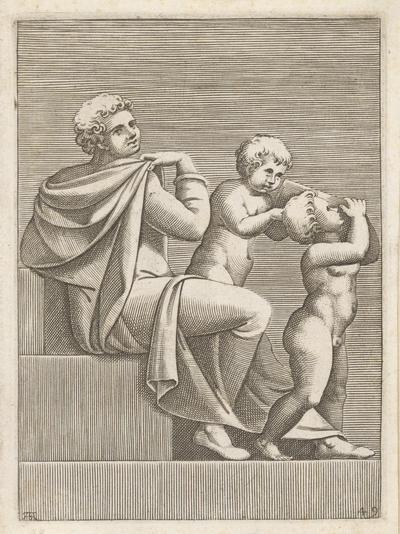 Mladík s dvoma deťmi