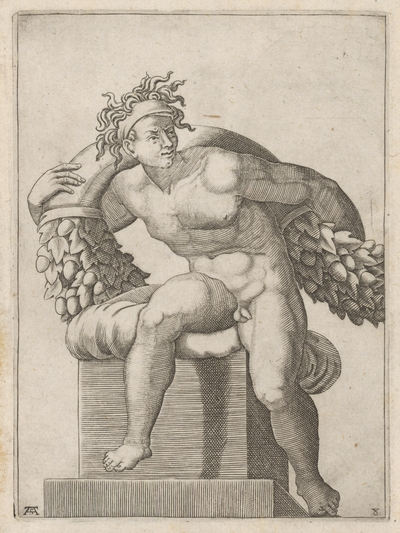 Svalovec s dubovým festónom na chrbte