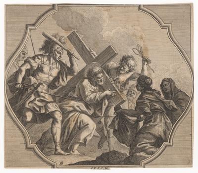 Nesenie kríža - Svätá Veronika podáva šatku Kristovi