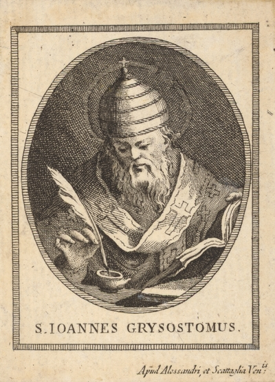 Sv. Ján Chryzostom (portrét v ovále)