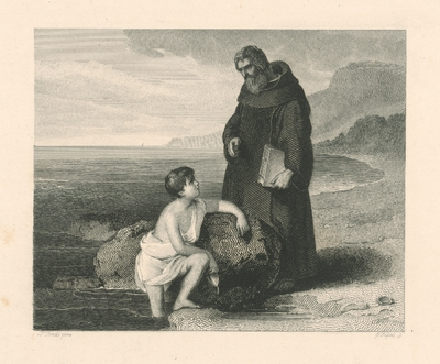 Image from object titled Dieťa a mních
