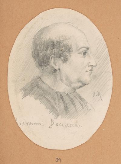 Portrétna štúdia Giovanni Boccaccia