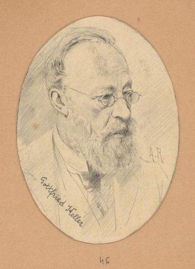 Portrétna štúdia Gottfrieda Kellera