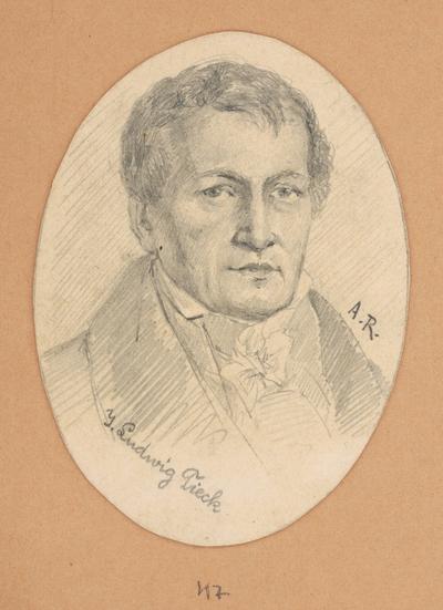Portrétna štúdia J. Ludwiga Tiecka