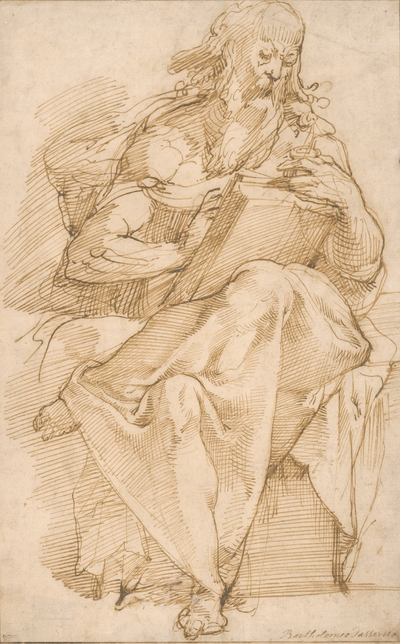 Study of a Seated Evangelist