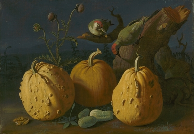 Image from object titled Still Life with Pumpkins and Cucumbers