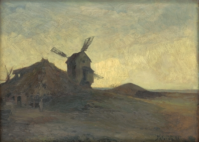 Image from object titled Landscape with a Windmill