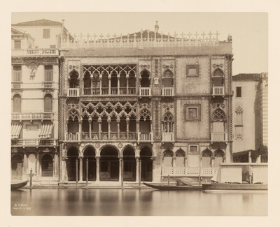 Benátky. Zlatý palác (Palazzo Ca' d'Oro)
