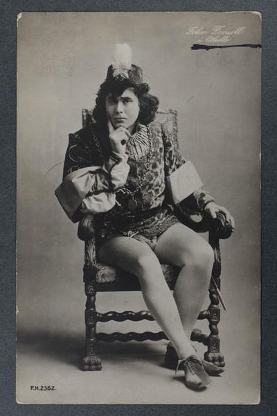 """John Forsell (1868-1941) som Jago i """"Othello""""."""