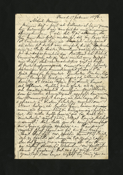 Image from object titled Paris d. 17 Februari 1875.