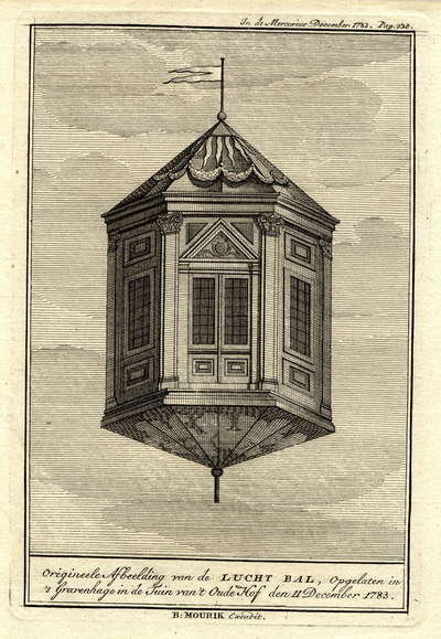 Image from object titled Den Haag, luchtballon 1783