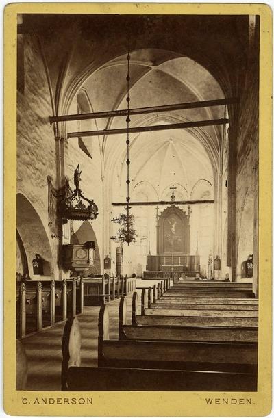 Cēsu Sv. Jāņa baznīcas iekštelpa