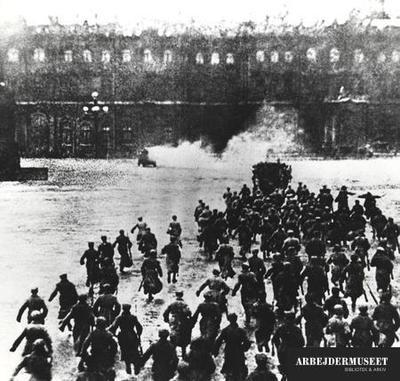 Fra Stormen På Vinterpaladset Under Oktoberrevolutionen