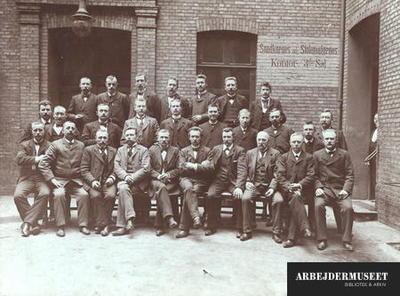 Deltagerne i Dansk Mølleriarbejder-Forbunds 9. kongres der blev afholdt i København 31. marts og 1. april 1904