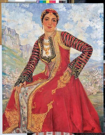 Γυναίκα με Παραδοσιακή Ενδυμασία