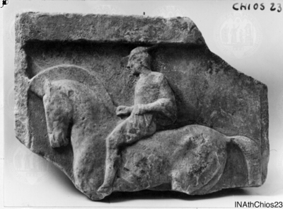 Image from object titled Relief mit Reiter nach li