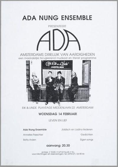 ADA Amsterdams drieluik van aardigheden