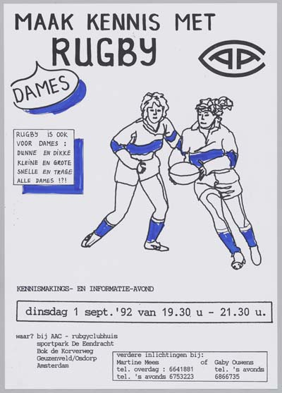 Image from object titled Maak kennis met dames rugby