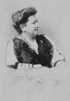 Portret van Olive Schreiner.