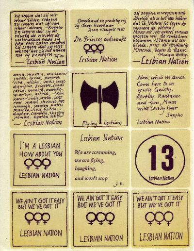 Image from object titled Stickervel. 'Lesbian Nation'.