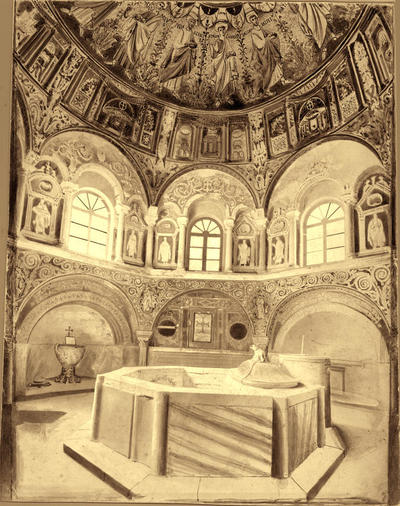 Image from object titled Ravenna, Battistero Neoniano, interno