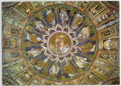 Image from object titled Ravenna, Battistero Neoniano, Cupola