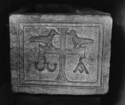 Image from object titled Imola, Museo Diocesano, Sarcofago con pavoni, fianco destro
