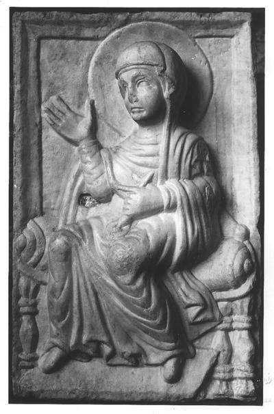 Image from object titled Ravenna, Basilica di Sant'Apollinare in Classe, Maria Vergine annunciata