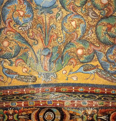 Image from object titled Ravenna, Basilica di San Vitale, Racemi d'acanto, particolare
