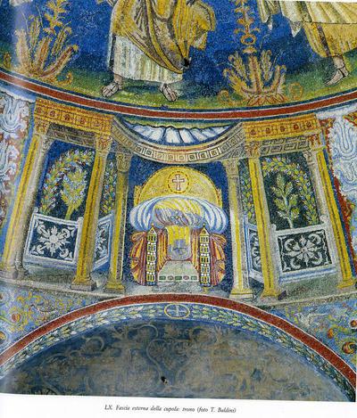 Image from object titled Ravenna, Battistero Neoniano, Etimasia