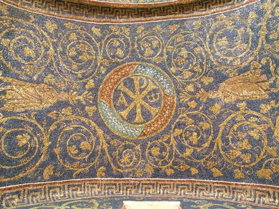 Image from object titled Ravenna, Mausoleo di Galla Placidia, Volta con racemi di vite e apostoli