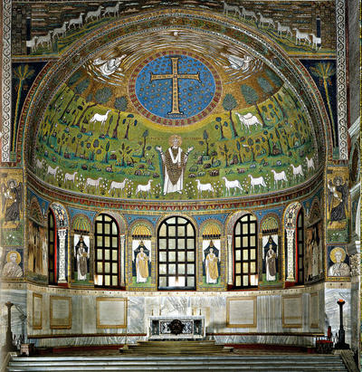 Image from object titled Ravenna, Basilica di Sant'Apollinare in Classe,  Abside ed arco trionfale