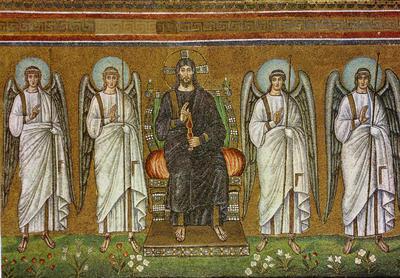 Image from object titled Ravenna, Basilica di Sant'Apollinare, Cristo in trono