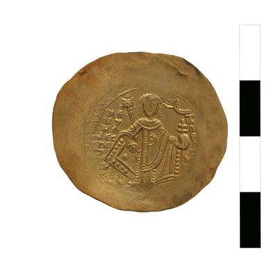 Image from object titled Byzantine Museum of Holy Bishopric of Tamasos and Oreinis (Cyprus): Hyperpyron of Manuel I Komnenos (1143-1180) (TN124) Reverse