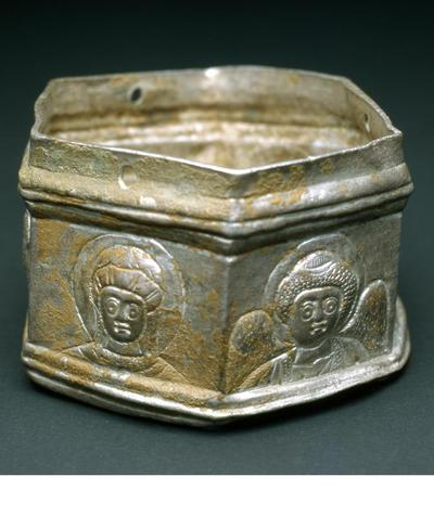 Image from object titled Μουσείο Ιεράς Μονής Κύκκου (Κύπρος): Αργυρό εξάπλευρο λεκανίδιο θυμιατηρίου (Δ 113)