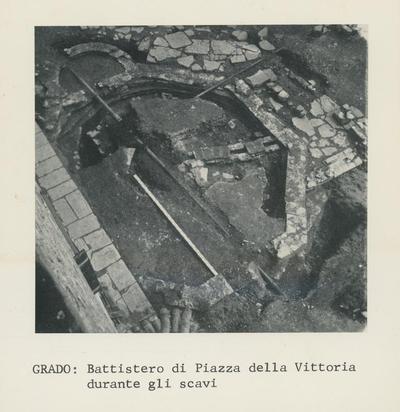 Image from object titled Grado: Battistero di Piazza della Vittoria durante gli scavi