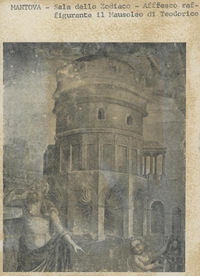 Mantova - Sala dello Zodiaco - Affresco raffigurante l'esterno del Mausoleo di Teodorico