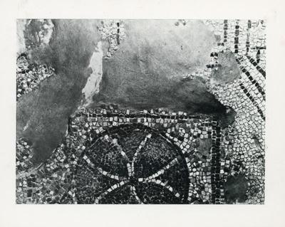 S. Miceli, basilica. Particolare dell'iscrizione musiva di Dionisius