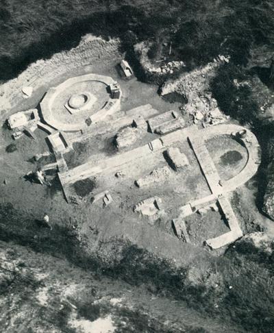Image from object titled Veduta aerea del complesso di Santa Maria di Padovetere