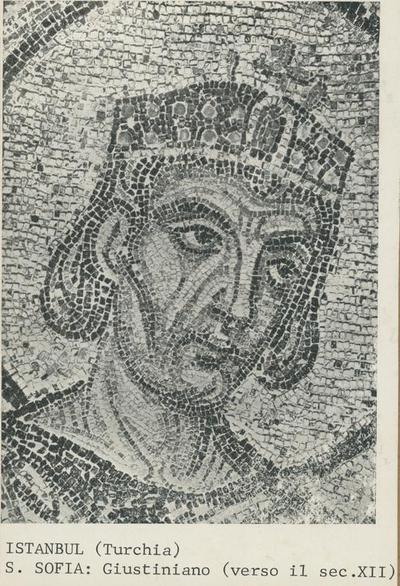 Image from object titled Constantinopoli (Istanbul), S. Sofia, Giustiniano (verso il sec. XII)