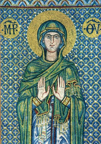 Image from object titled Venezia. Basilica di S. Marco. La Vergine (mosaico del XIII sec.). Navata laterale destra