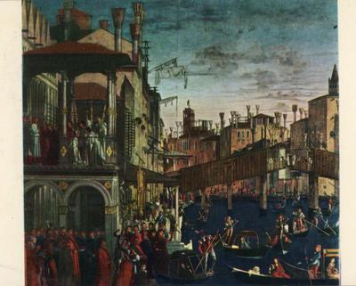 Venezia. Gallerie dell'Accademia. Vittore Carpaccio: Guarigione dell'ossesso (particolare)