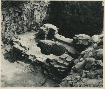Image from object titled Veliki Gradac. (Jugoslavia). Battistero della chiesa paleocristiana