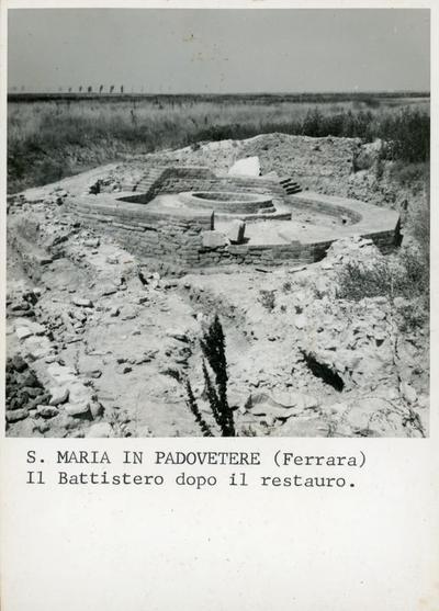 Image from object titled S. Maria in Padovetere (Ferrara). Il battistero dopo il restauro